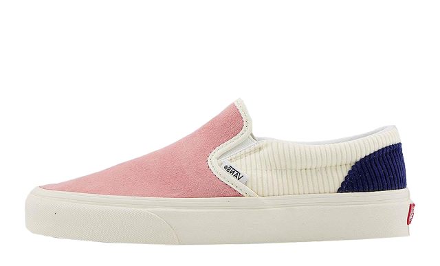 Vans Classic Slip-On Pink Icing White Blueprint