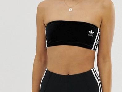 adidas Originals Bandeau Bralette Black