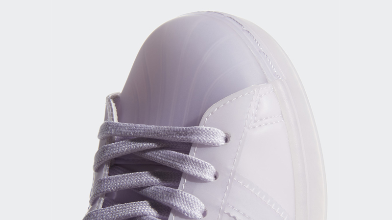 adidas Superstar Jelly Purple Tint Closeup
