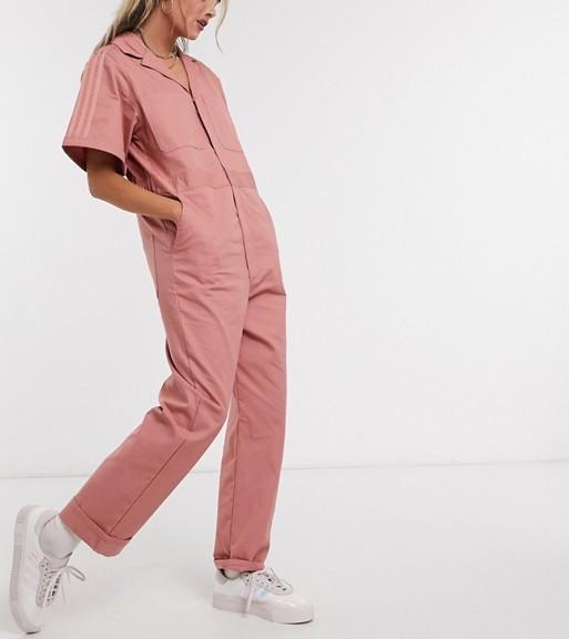 adidas boiler suit pink
