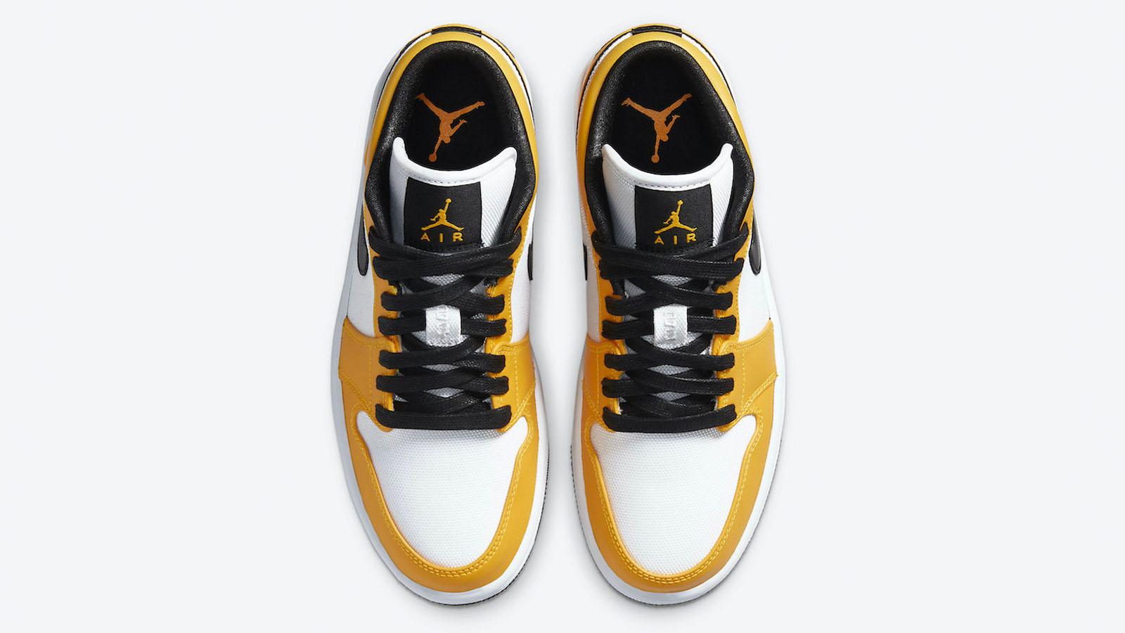 air jordan 1 low yellow black white