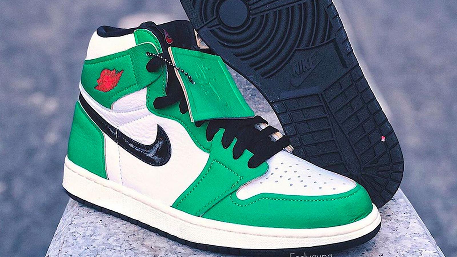 green red nike air jordan 1