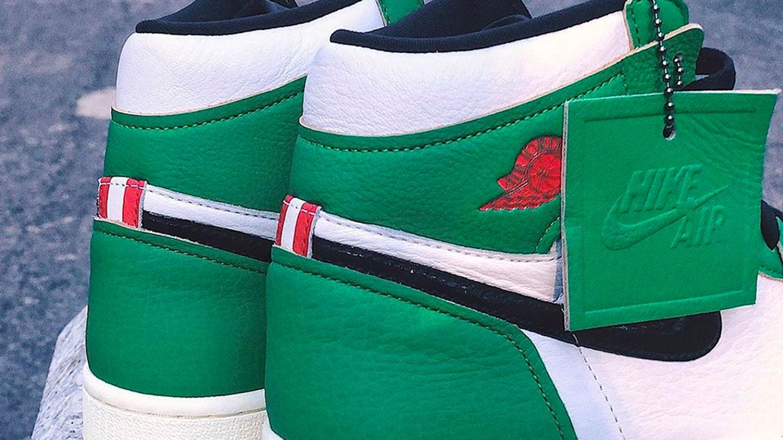 lucky green air jordan 1 mid