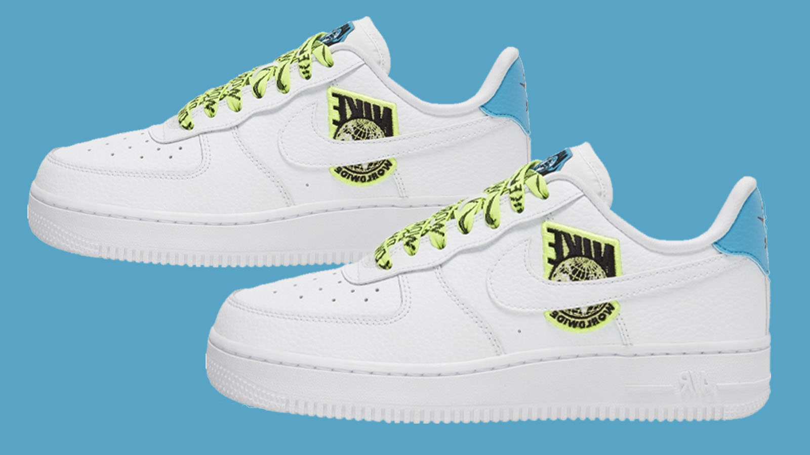 Regeneración inercia Todo el mundo  The Nike Air Force 1 07 SE 'Worldwide White Volt' Is Set To Be A Global Hit  | The Sole Womens