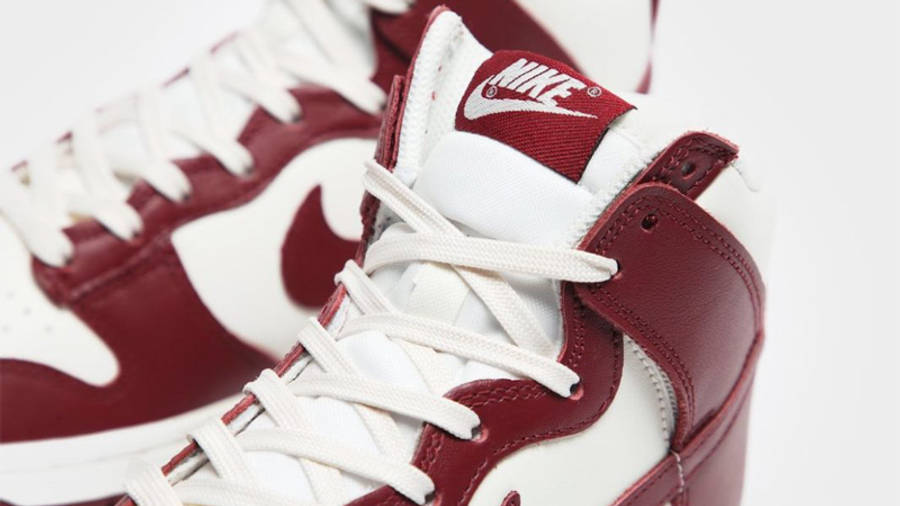Nike Dunk High Team Red Closeup