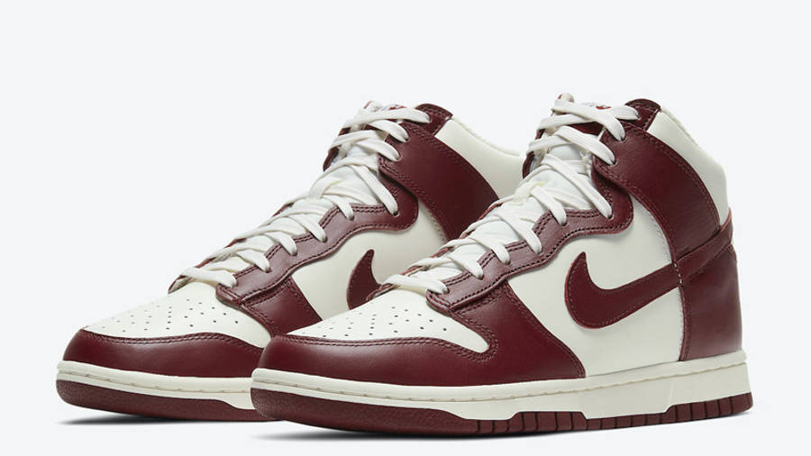 Nike Dunk High Team Red Front