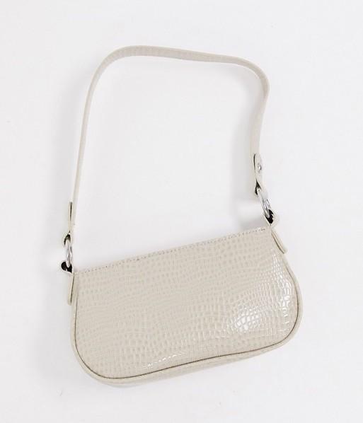 ASOS Design Croc Effect Shoulder Bag
