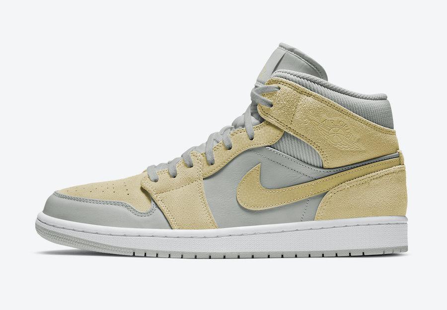 Air Jordan 1 Mid Grey Yellow