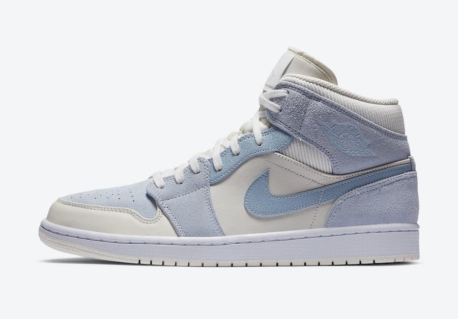 Air Jordan 1 Mid White Blue