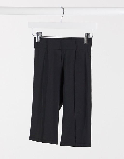 Bershka legging shorts in black