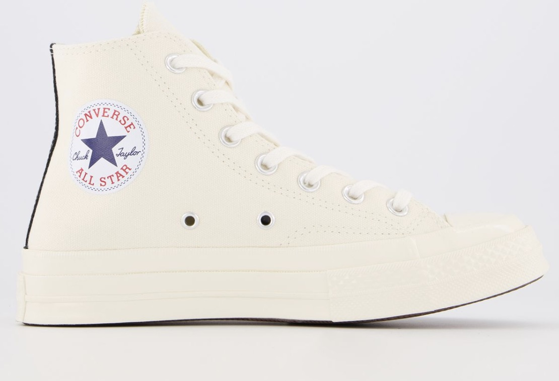 CDG x Converse Play High Top Beige