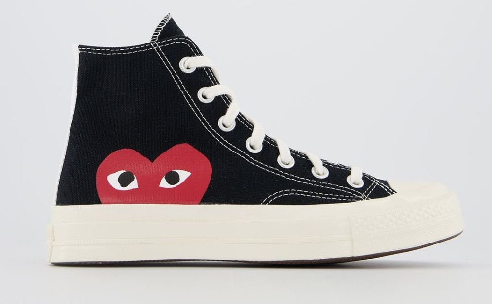 CDG x Converse Play High Top Black