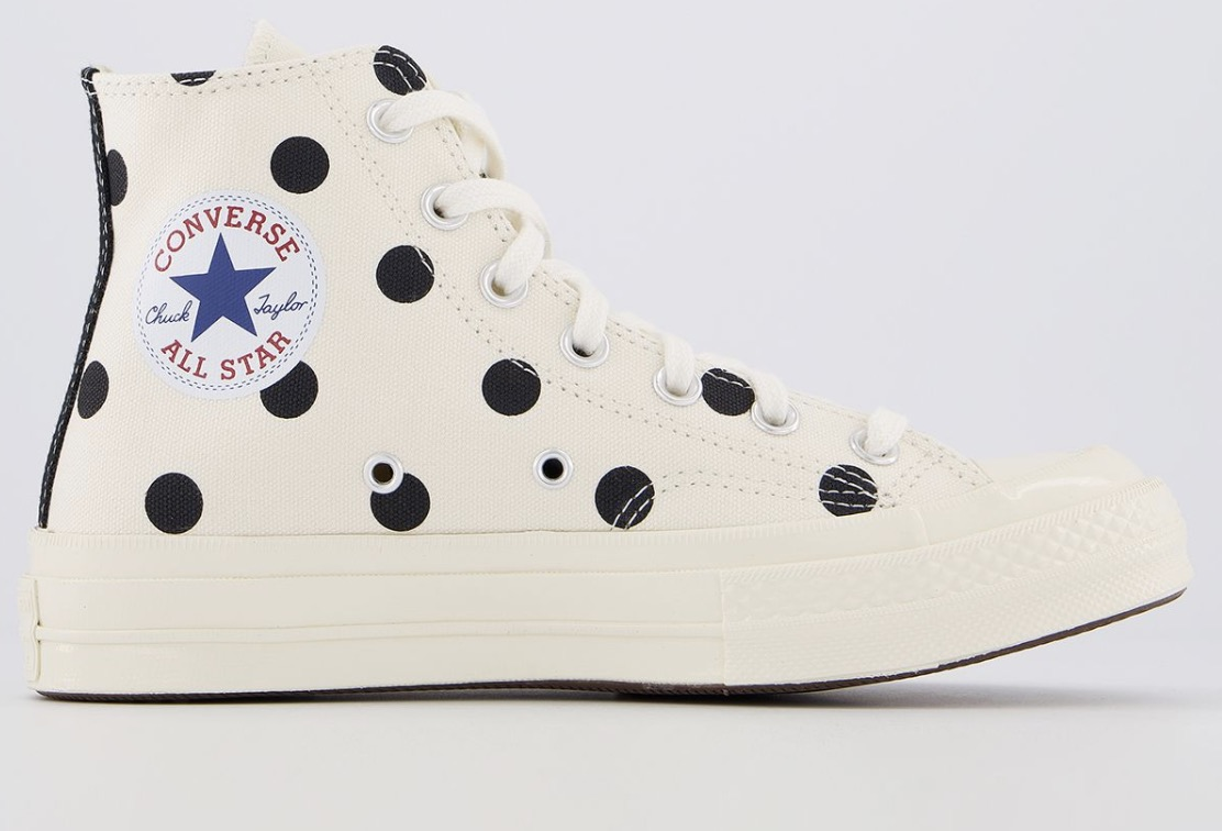 CDG x Converse Play High Top Polka Dot Beige