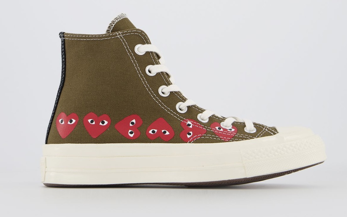 CDG x Converse Play High Top khaki