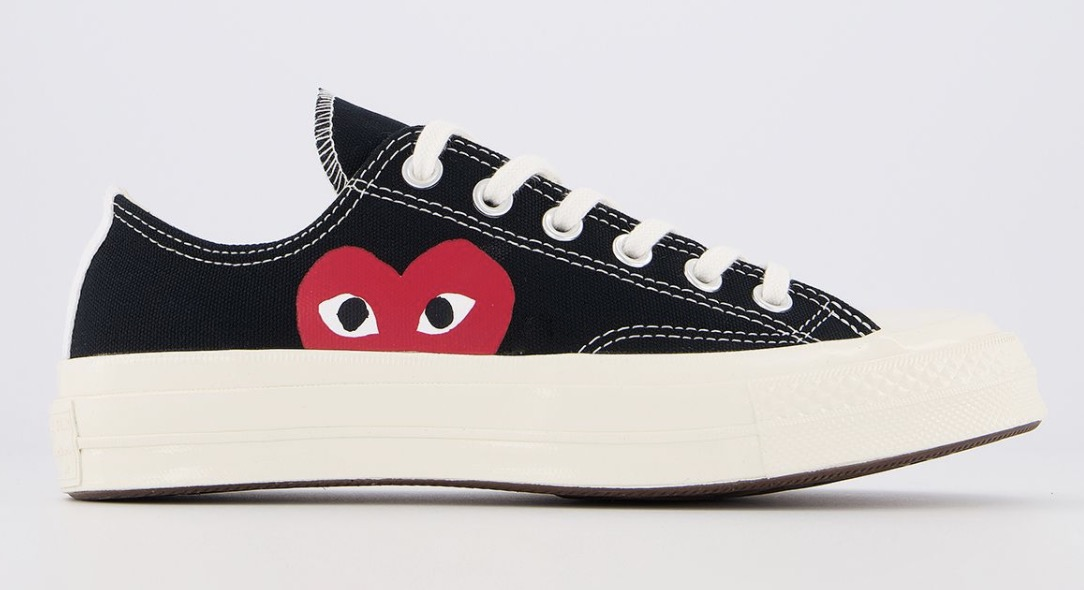 CDG x Converse Play Low Top Black