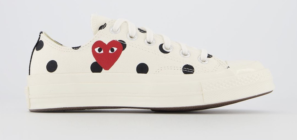 CDG x Converse Play Low Top Polka dot Beige