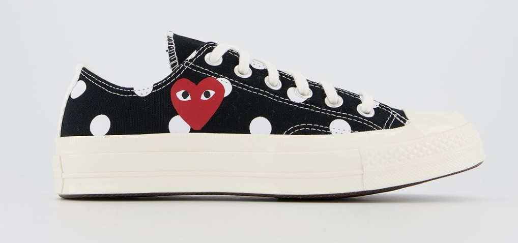 CDG x Converse Play Low Top Polka dot Black