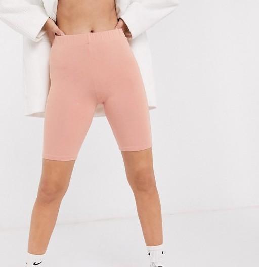 COLLUSION Legging Shorts Tan