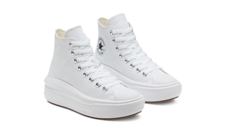 Converse Chuck Taylor All Star Move High Top White Front thumbnail image