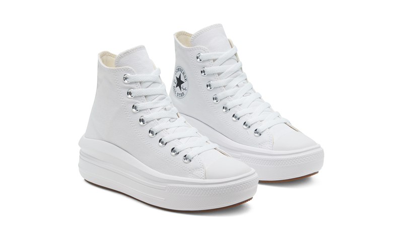 Converse Chuck Taylor All Star Move High Top White Front