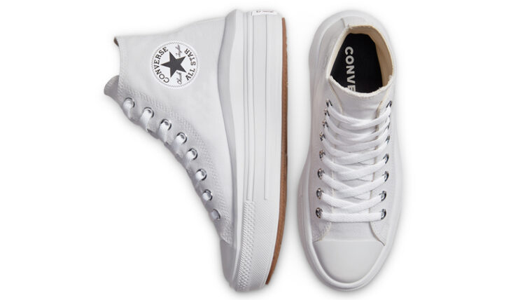 Converse Chuck Taylor All Star Move High Top White Middle thumbnail image