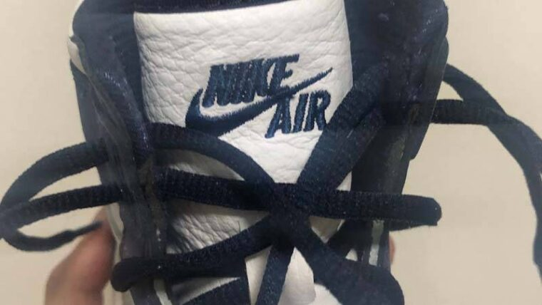 Jordan 1 High OG Japan Midnight Navy In Hand Tongue thumbnail image