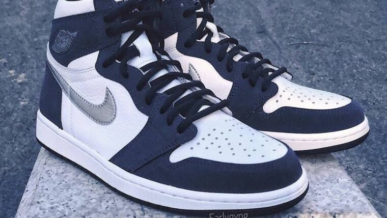 Jordan 1 High OG Japan Midnight Navy Lifestyle Front thumbnail image