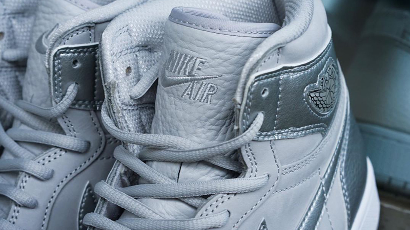 Jordan 1 High OG Japan Neutral Grey Closeup