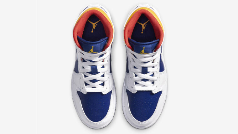 Jordan 1 Mid GS Royal Blue Laser Orange Middle thumbnail image