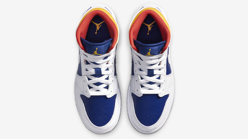 Jordan 1 Mid GS Royal Blue Laser Orange Middle