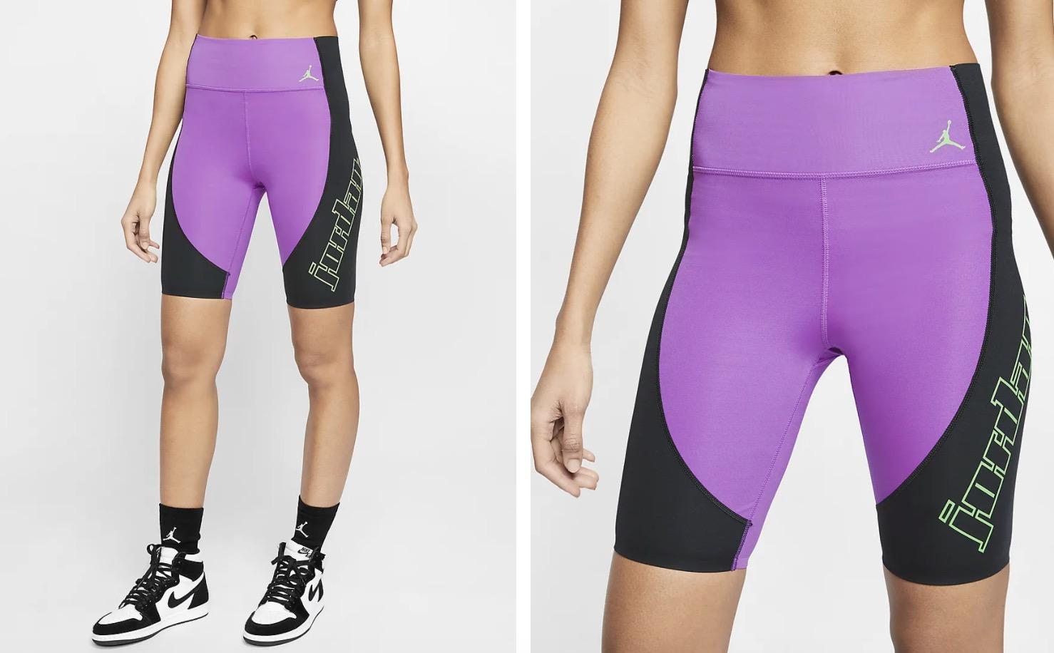 Jordan Moto Bike Shorts Black Purple