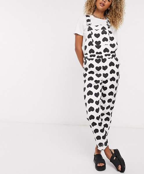 Lazy Oaf Printed Dungarees
