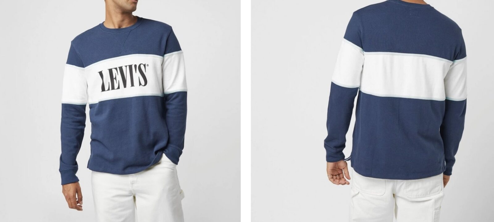 Levi's Block Sweatshirt White Blue