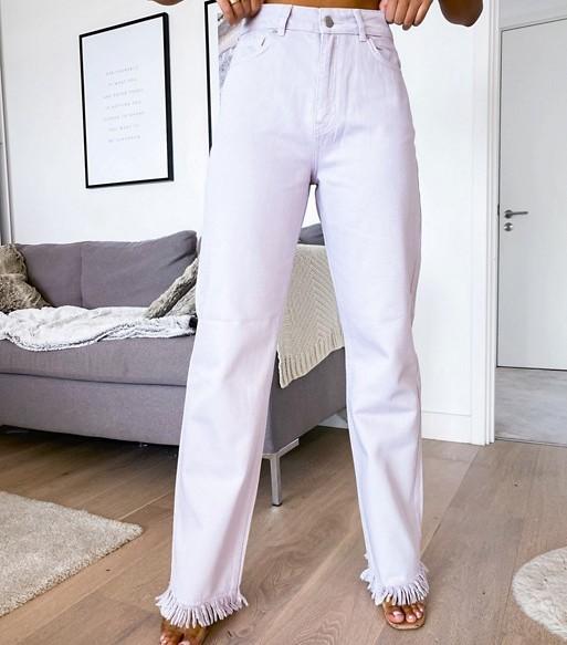 NA-KD High Waist Jeans Dusty Lilac