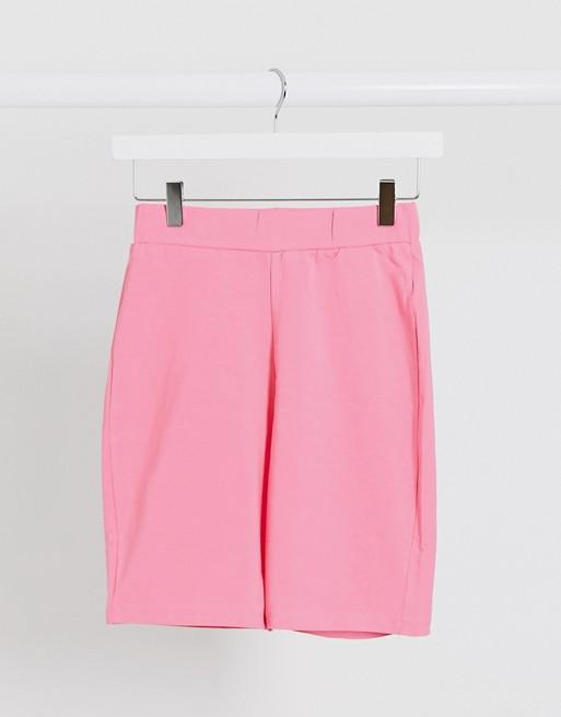 NA-KD leggings shorts in pink