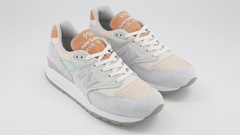 New Balance 998 Off White Tan Front