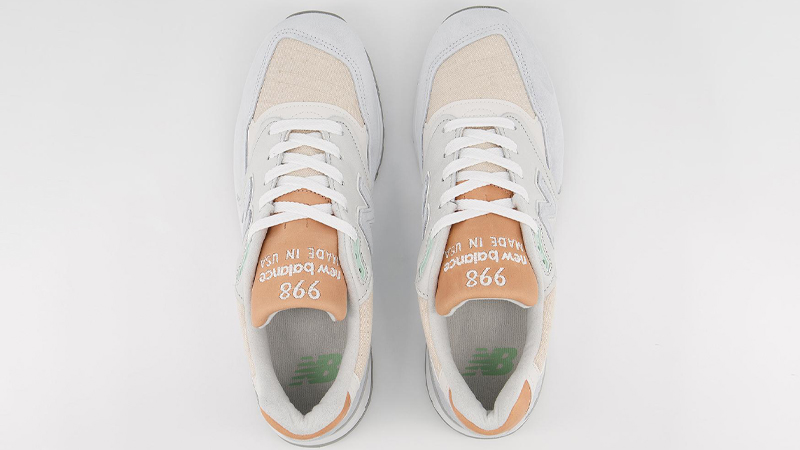 New Balance 998 Off White Tan Middle