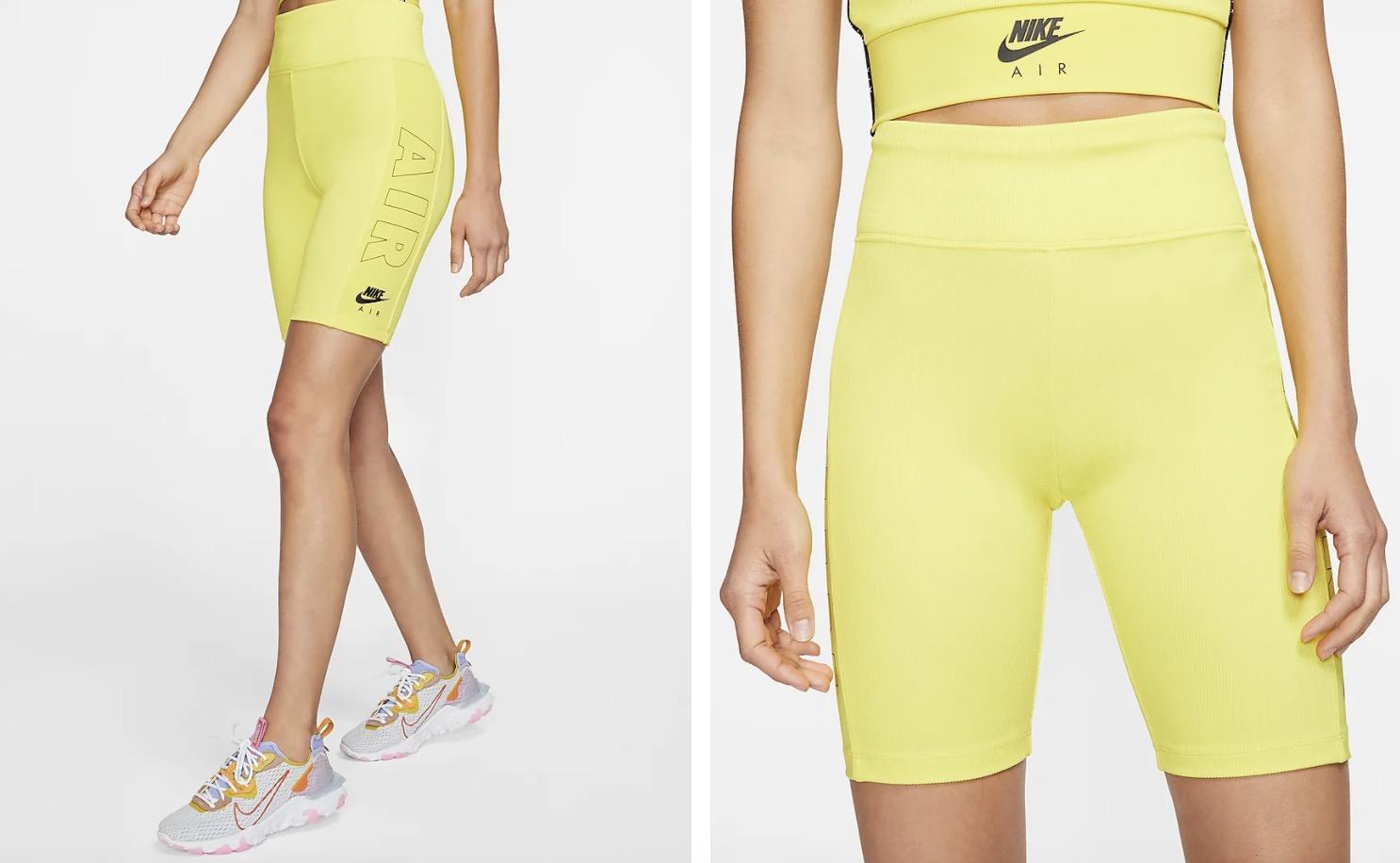 Nike Air Bike Shorts Yellow