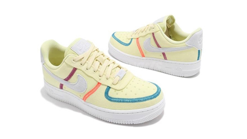 Nike Air Force 1 07 LX Life Lime Photon Dust Side-by-Side