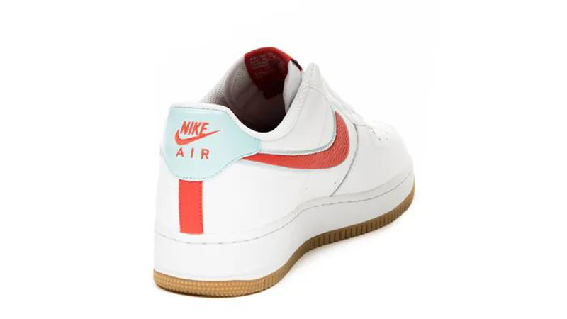 Nike Air Force 1 07 White Chile Red Back