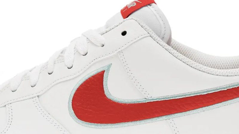 Nike Air Force 1 07 White Chile Red Closeup