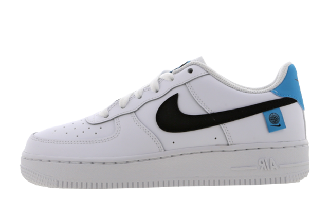 Nike Air Force 1 07 Worldwide GS White Blue Fury