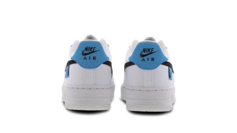 Nike Air Force 1 07 Worldwide GS White Blue Fury Back thumbnail image
