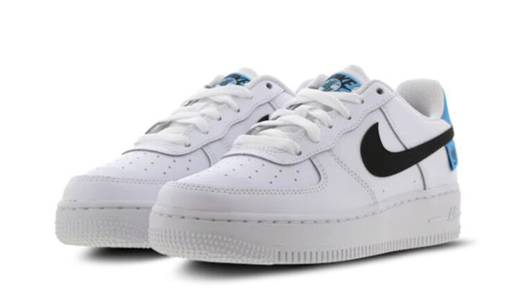 Nike Air Force 1 07 Worldwide GS White Blue Fury Front thumbnail image