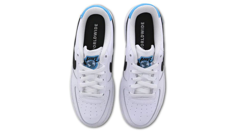 Nike Air Force 1 07 Worldwide GS White Blue Fury Middle