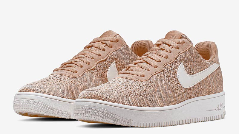 Nike Air Force 1 Flyknit 2.0 Sand Front