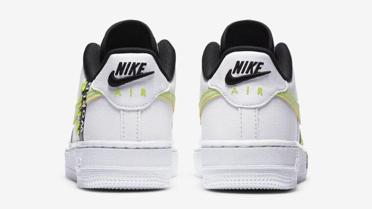 Nike Air Force 1 LV8 1 GS White Volt Back thumbnail image