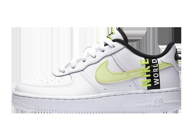 Nike Air Force 1 LV8 1 GS White Volt
