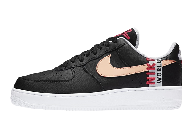 Nike Air Force 1 Low 07 Worldwide Black Flash Crimson