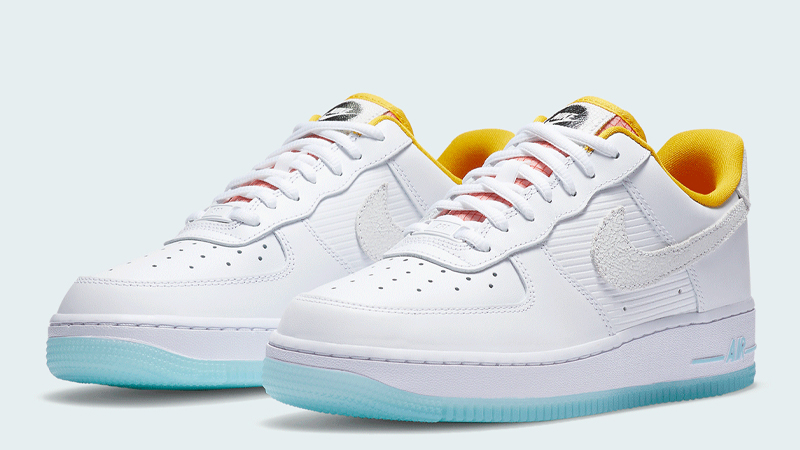 Nike Air Force 1 Low White Yellow Front